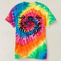 Tribal Tiger Spiral Tie-Dye T-Shirt