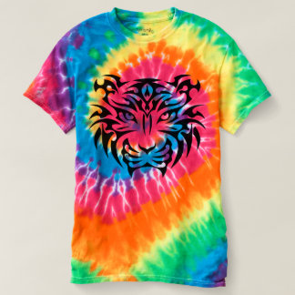 Tribal Tiger Spiral Tie-Dye T-Shirt