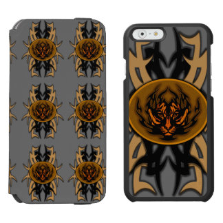tribal tiger symbol emblem iPhone 6/6s wallet case