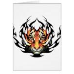 tribal Tiger Tattoo greeting card