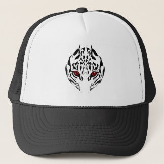 Tribal tiger trucker hat