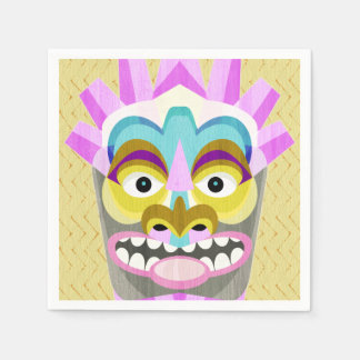 Tribal Tiki Hawaiian Luau Paper Napkin
