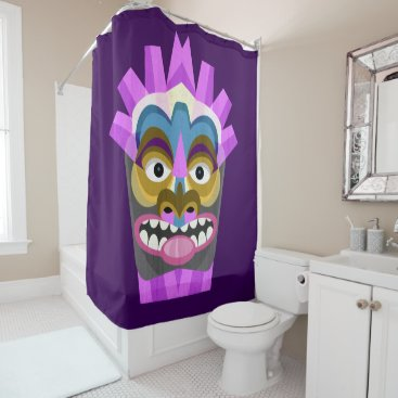 Tribal Tiki Hawaiian Luau Shower Curtain