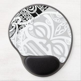 Tribal tiki totem face mask tatoo design Polynesia Gel Mouse Pad