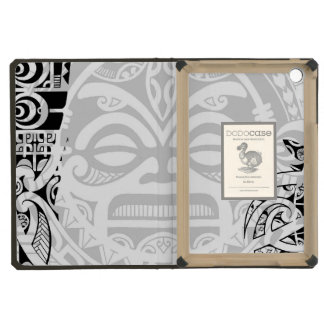 Tribal tiki totem face mask tatoo design Polynesia iPad Mini Covers
