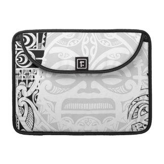 Tribal tiki totem face mask tatoo design Polynesia Sleeve For MacBooks