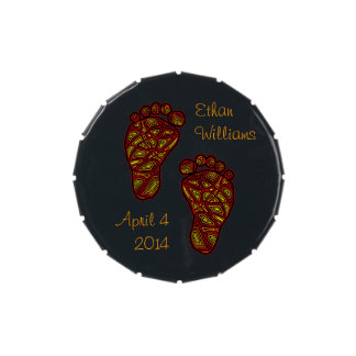 Tribal Toes Personalized Jelly Belly Tins