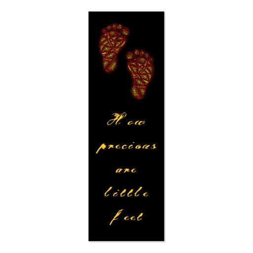 Tribal Toes Precious Feet Mini Bookmarks - Business Card Templates