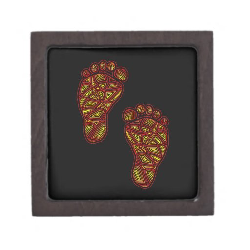 Tribal Toes Premium Keepsake Box