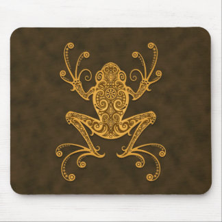 Tribal Tree Frog (brown) Mouse Pad