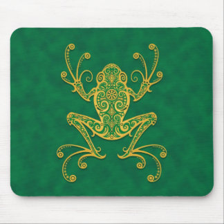 Tribal Tree Frog (green) Mouse Pad