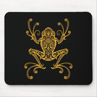 Tribal Tree Frog (yellow) Mouse Pad