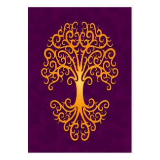 Tribal Tree of Life Golden Purple Large Business Card