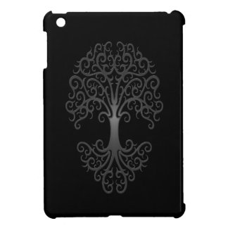 Tribal Tree of Life Grey on Black Case For The iPad Mini
