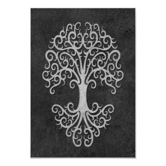 Tribal Tree of Life with Grey Stone Effect Card