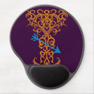 Tribal tree symbol with arrow orange gel mouse pad