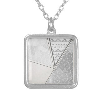 Tribal Triangle Pattern Grayscale Necklaces