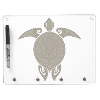 Tribal Turtle Dry Erase Board With Keychain Holder