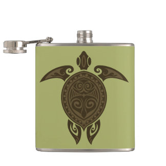Tribal Turtle Flask