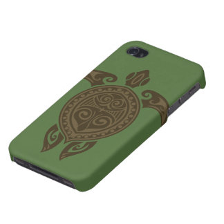 Tribal Turtle iPhone 4 Cases
