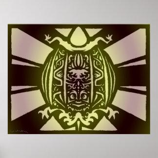 Tribal Turtle Print