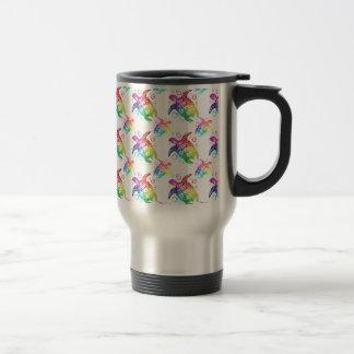Tribal Turtle Rainbow Travel Mug