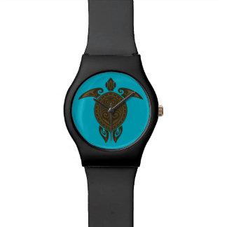 Tribal Turtle Relojes De Mano