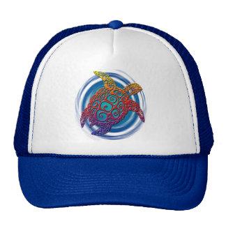 Tribal turtle swirl design trucker hat