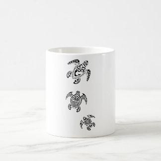 Tribal Turtle Trio Design Coffee Mug