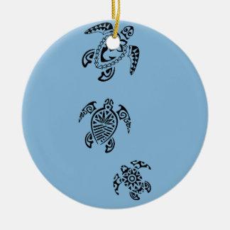Tribal Turtle Trio Design Ornaments