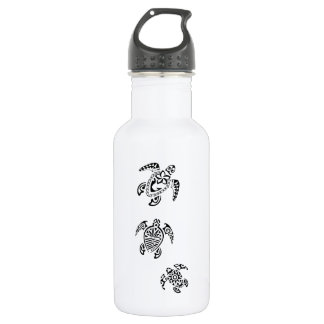 Tribal Turtle Trio Design Water Bottle