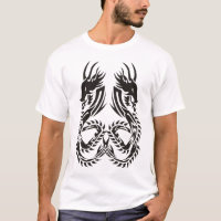 tribal twin dragon tattoo tee 1