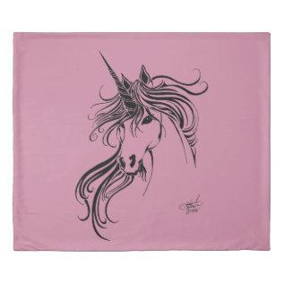 Tribal Unicorn Duvet Cover at Zazzle