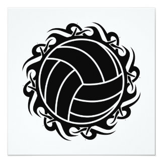 tribal volleyball card