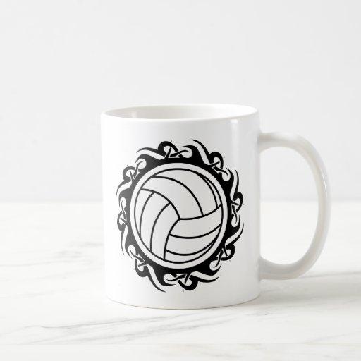 tribal volleyball classic white coffee mug