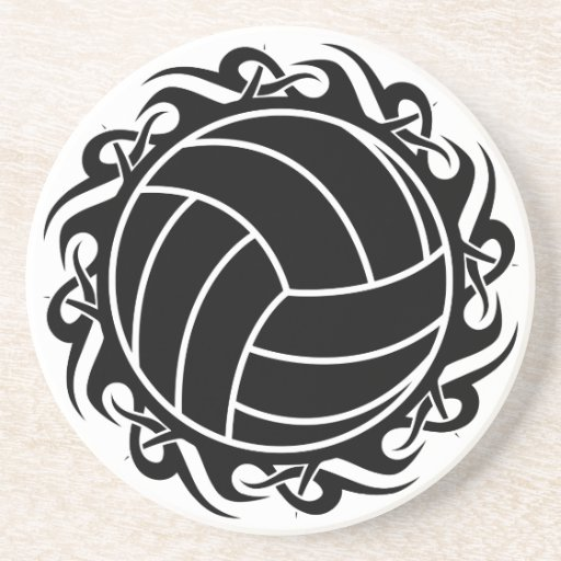 tribal volleyball coasters