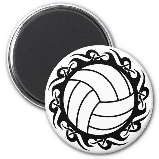 tribal volleyball fridge magnet
