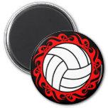 tribal volleyball fridge magnets