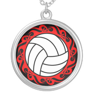 tribal volleyball personalized necklace
