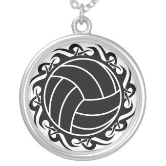 tribal volleyball necklace