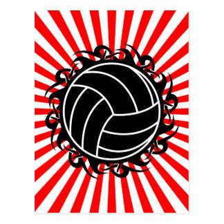 tribal volleyball postcard