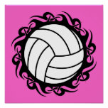 tribal volleyball print