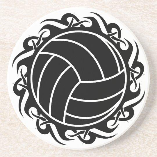 tribal volleyball sandstone coaster