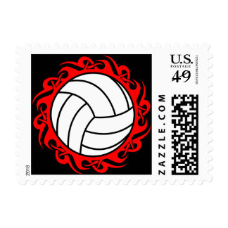 tribal volleyball stamp