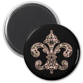 Tribal Voodoo Fleur de lis 2 Inch Round Magnet