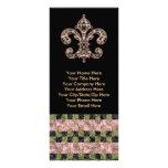 Tribal Voodoo Fleur de lis Rack Card Template