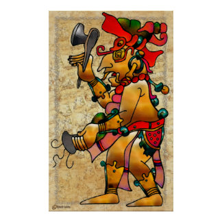 Tribal War Dance Native Art Poster
