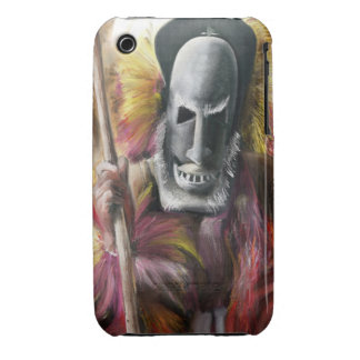 Tribal Warrior painting iPhone 3g case iPhone 3 Case-Mate Case