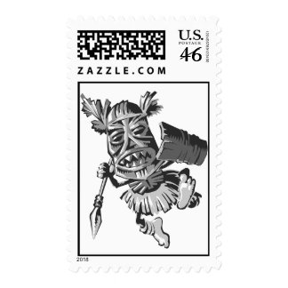 Tribal warrior postage stamps