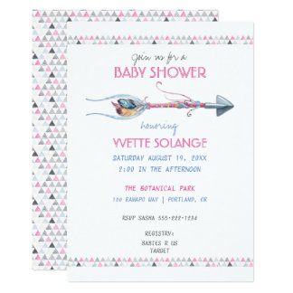 Tribal Watercolor Arrow Feathers Any Occasion Card